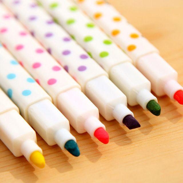 Gel pluma kawaii canetas caneta school escritorio lapices papelería kawaii dot colorida kalem stabilo boligrafos de colores