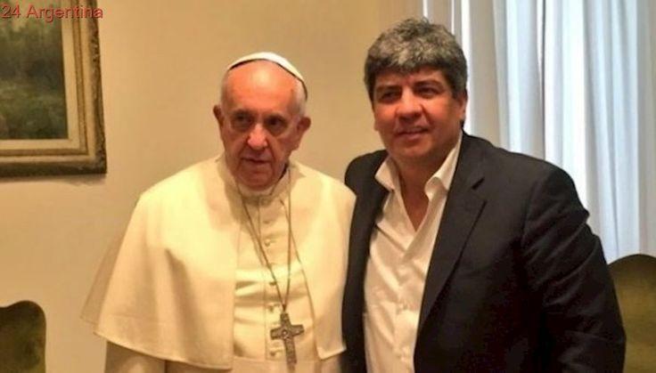 El Papa y a Pablo Moyano en el Vaticano: reforma laboral y un regalo especial