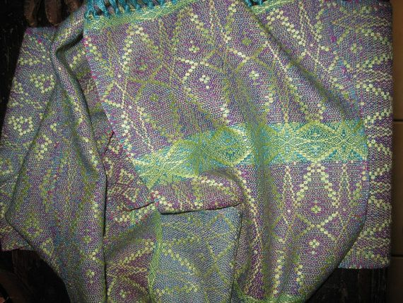 Handwoven Silk Scarf Hand Dyed Silks woven by by tisserande