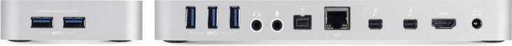 OWC Thunderbolt 2 Dock. Ports view.