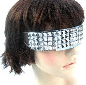 Retro Clear Frame Silver Studded Futuristic Robot Incognito Style Sunglasses | eBay