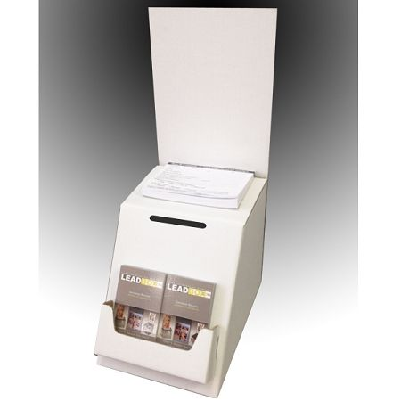 Low Cost White Cardboard Ballot, Raffle Box and Suggestion Box