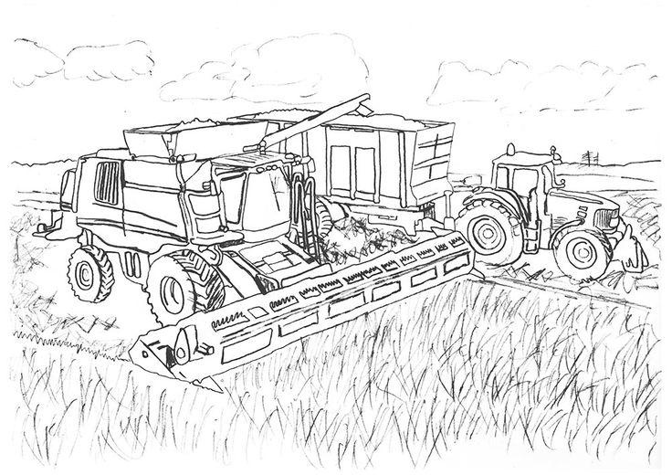 ausmalbilder landwirtschaft | tractor coloring pages
