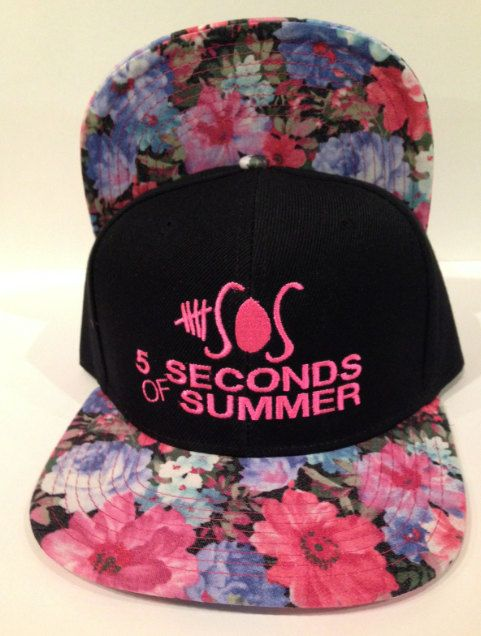 5 Seconds OF summer 5 SOS Flower print brim by winteriscoming2012