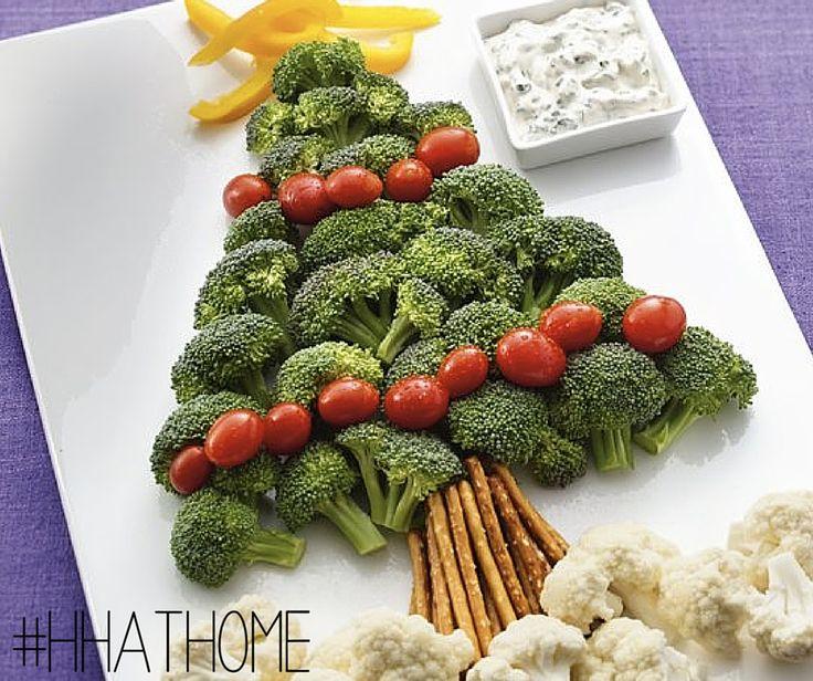 Een kerstboom gemaakt van groeten en fruit, TRY IT! :)