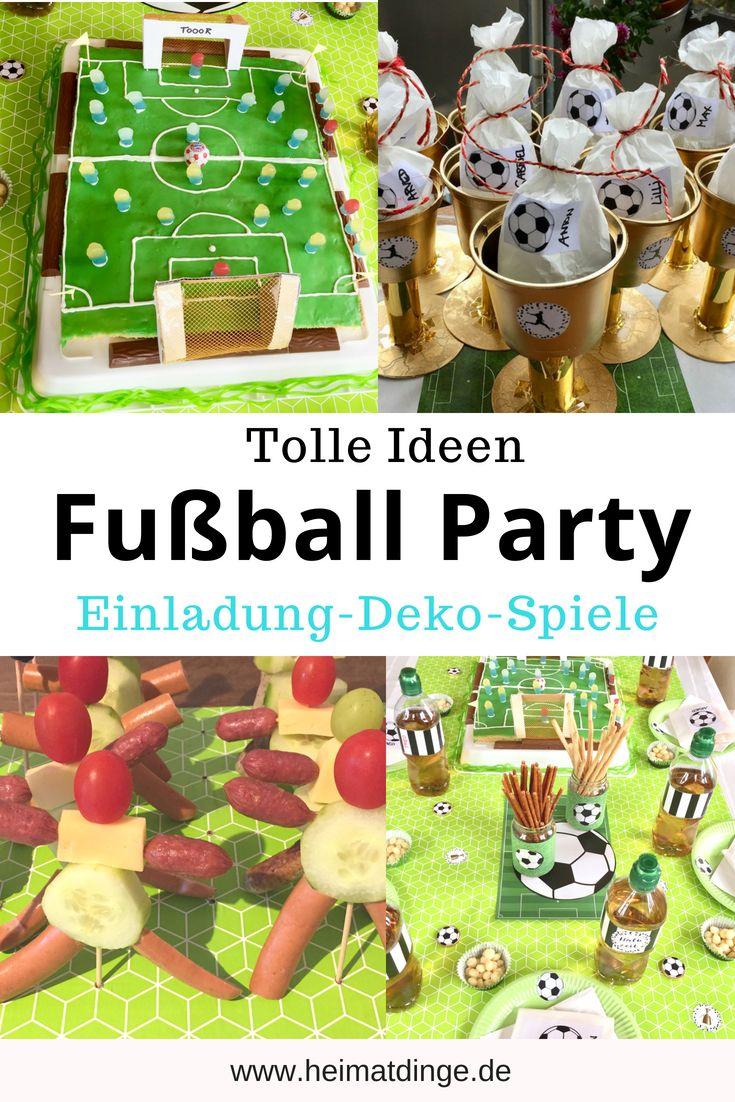 Fußball Geburtstag: Ideen für eine gelungene Fußball Party – – heimatdinge