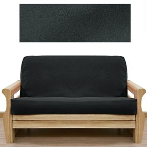 ultra suede black futon cover  offers lush feeling of suede with out the high price 13 best soft futon covers images on pinterest   futon covers      rh   pinterest