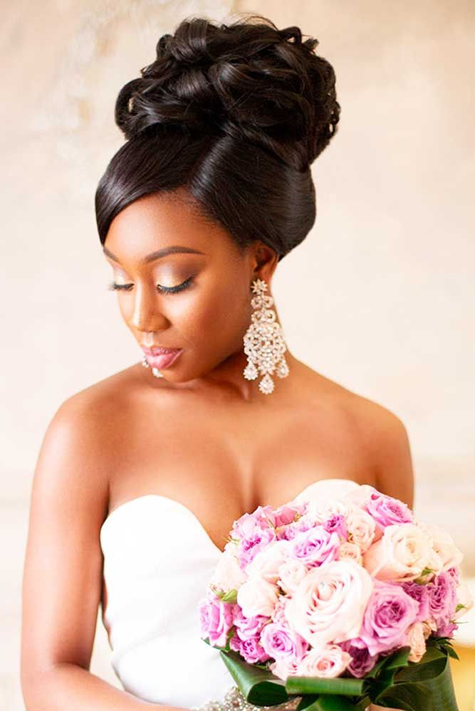 25+ Best Ideas About Black Wedding Hairstyles On Pinterest | Wedding Hairstyle Hairstyles For ...