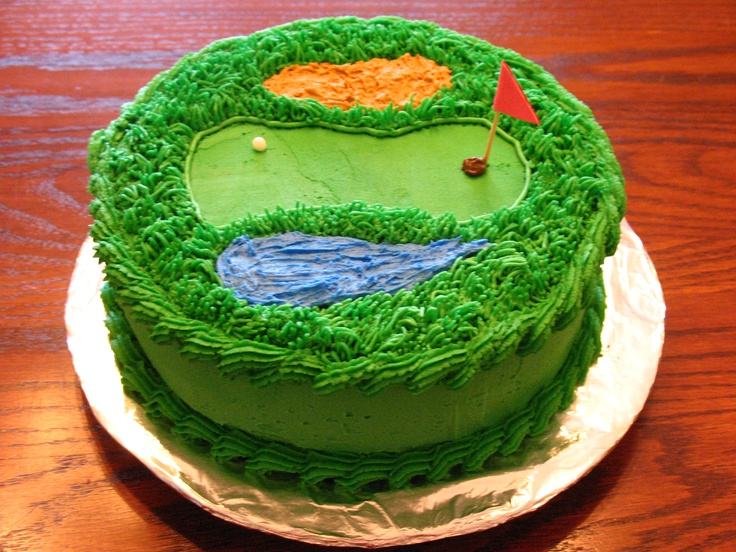 Golf course cake for Ben's 6th birthday