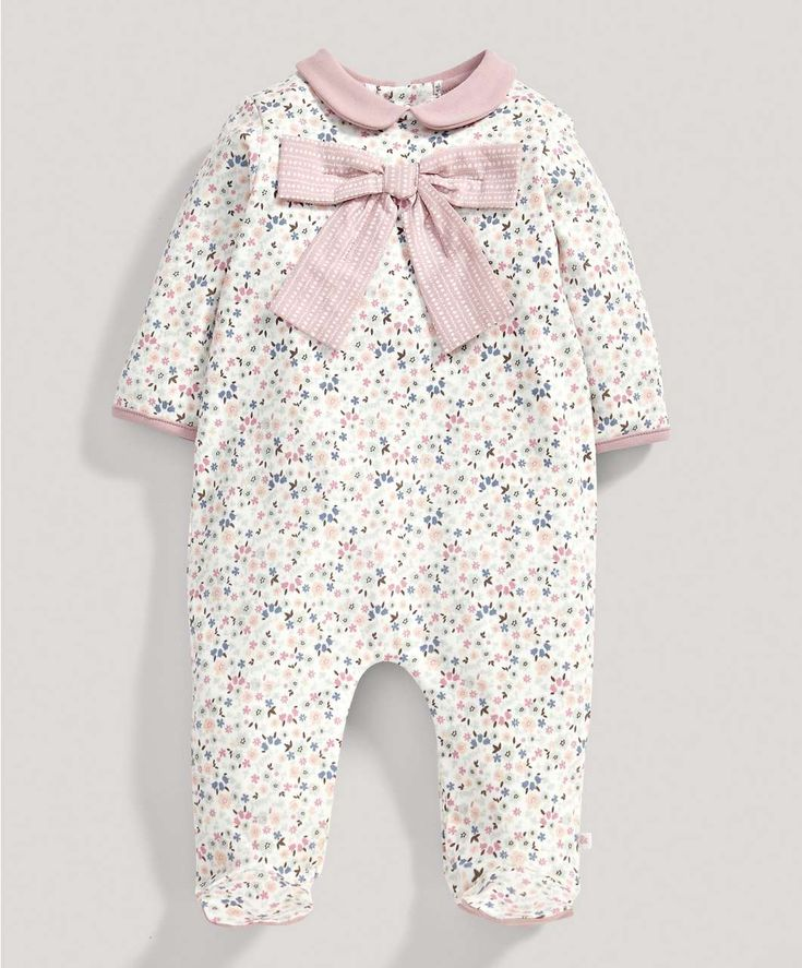 Girls Floral Bow All in One - New Arrivals - Mamas & Papas