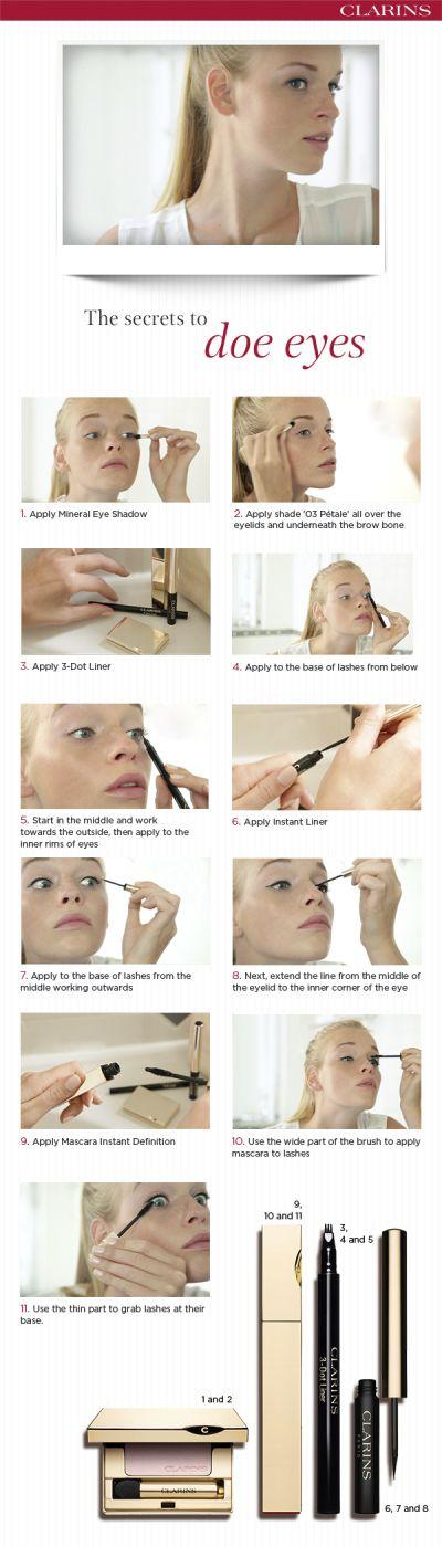 Rehaugen schminken #makeup #tutorial #clarins