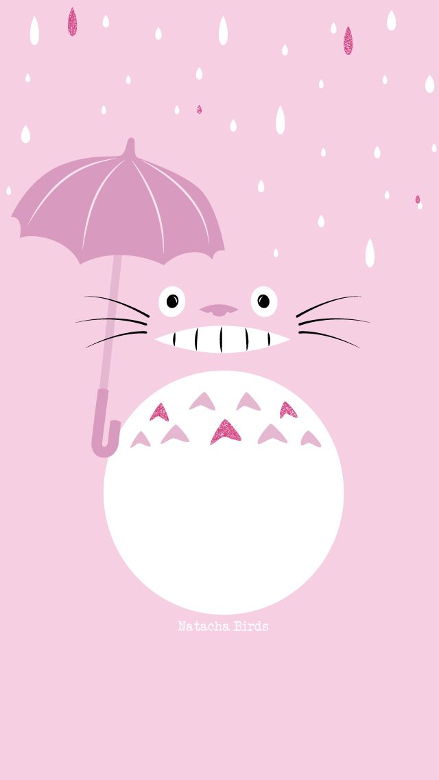 Cute pink totoro from Natacha Birds
