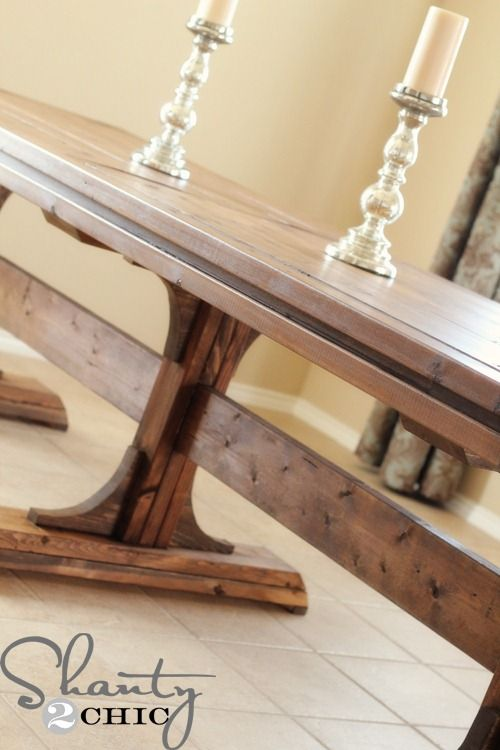 1000 images about tables i might build on pinterest Pedestal farmhouse table plans