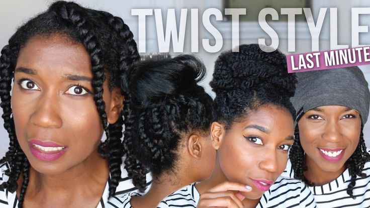5 Minute Hairstyles Braids: Styling Bedtime Two Strand Twists - Easy