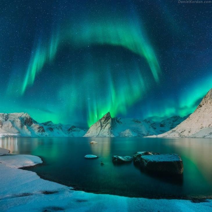 Las auroras boreales de las Islas Lofoten. fotos naturaleza
