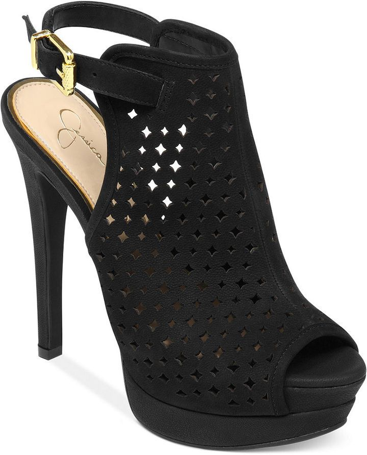 51f08d77a850 Jessica Simpson Seigfriede Perforated Platform Shooties on shopstyle.com