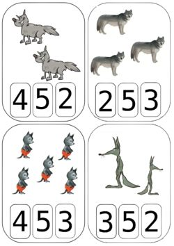 Cartes à compter Loups (Maitresse Myriam)