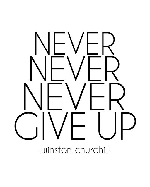 sugartotdesigns: NEVER NEVER NEVER GIVE UP