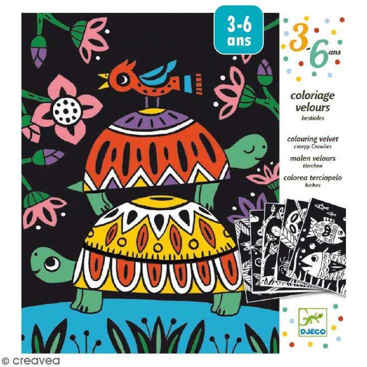 Compra nuestros productos a precios mini Colorear terciopelo - Bichos - 5 tableaux - Entrega rápida, gratuita a partir de 89 € !
