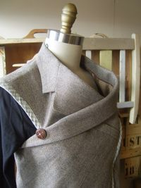 This woman's blog is really cool, and her upcycling of men's jackets and shirts is inspired.