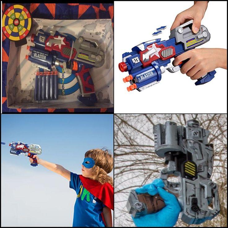 Big solid League Blaster Gun with Foam Darts and Dartboard Kid Toy For Christmas #Newisland