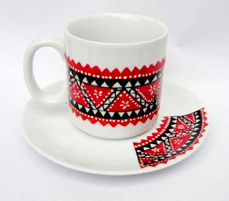 """Cana+pentru+cafea+""""Etnic+Motifs"""""""