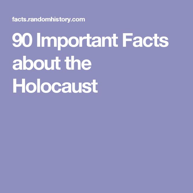 90 Important Facts about the Holocaust
