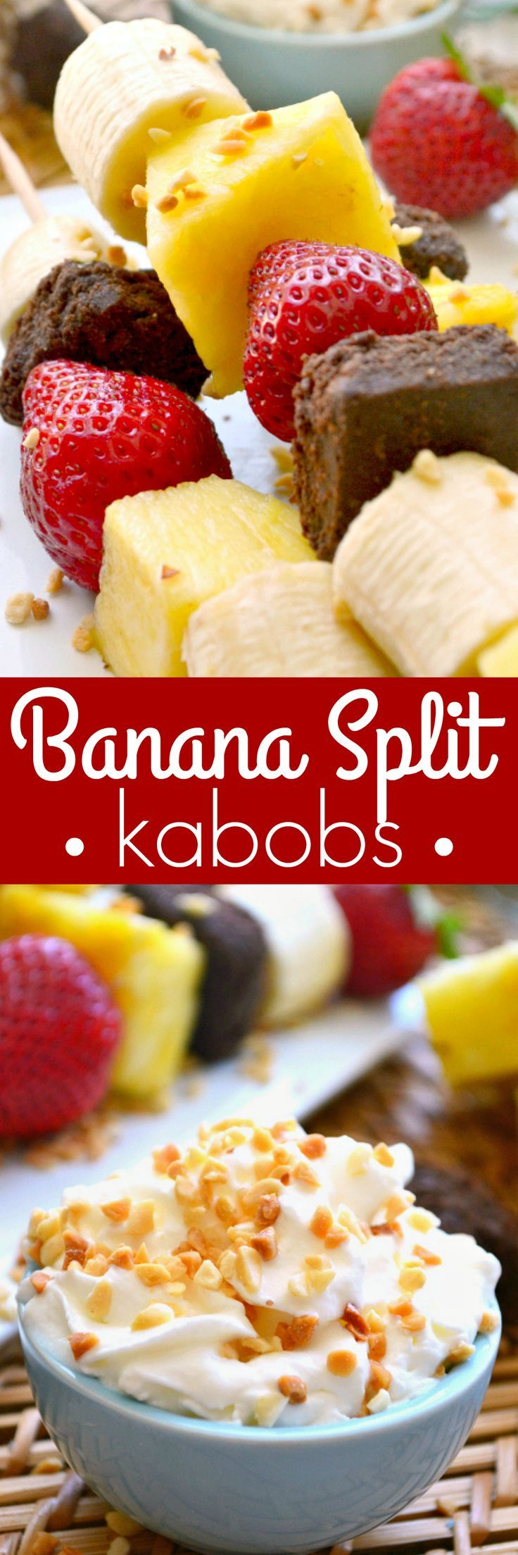Banana Split Kabobs - what a fun summer dessert or snack idea for kids!!