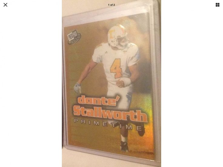 Donte Stallworth 2002 Press Pass PT11 Tennessee Volunteers Eagles Rookie