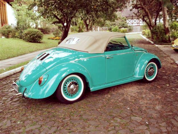 Vintage, retro, fusca, volkswagen