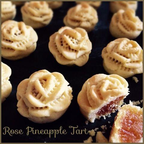 Rose Shape Pineapple Tarts 玫瑰黄梨挞
