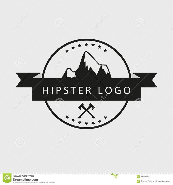 Logotipo Blanco Y Negro Del Inconformista Con Las Montañas Y Las ...