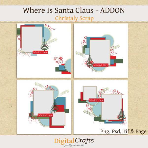 Where is Santa Claus _ Addon - Templates : Christaly  http://digitalcrafts.com.br/store1/index.php?main_page=product_info&cPath=123_125&products_id=455