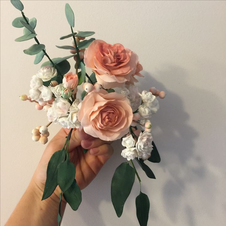 SMALL BOUQUET OF {wild roses, blossom, eucalyptus leaves, winter berries} by Sugar Florist
