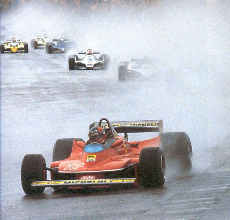 Gilles Villeneuve at the USGP at Watkins Glen