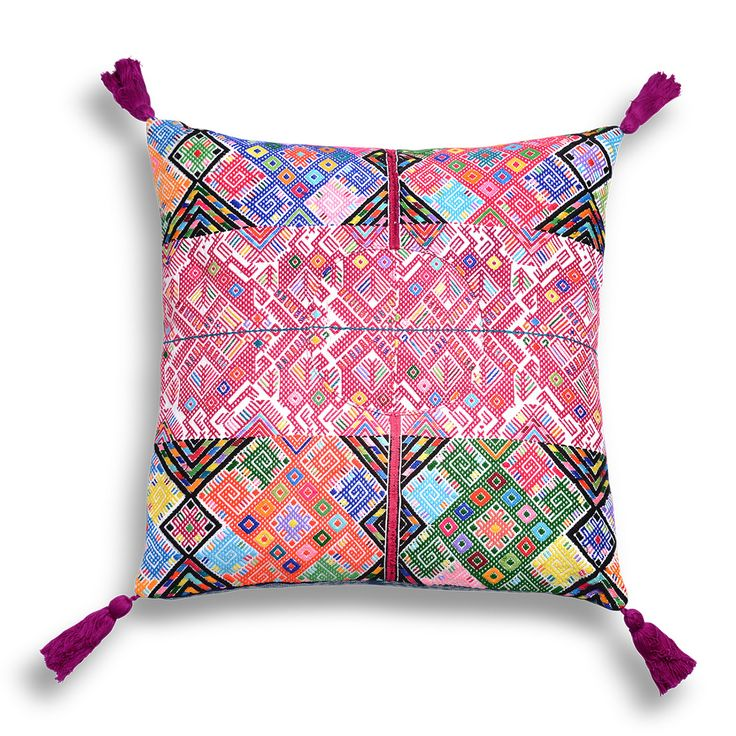 Similar Vintage Mayan textile throw pillows at Celadon Home! www.celadonathome.com  Chisec Embroidered Pillow   Furbish Studio