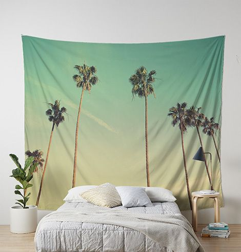 Reach the clouds Click on the link: https://www.etsy.com/shop/OkopipiDesign  #tapestry#walltapestry#naturetapetry#palm#palmtree#tropical#vintage#retro#bedroom#livingroom#photography#photo#decor#interiordecor#nature#sky#clouds#minimalist#greenery#beach#seaside#holiday#relaxation