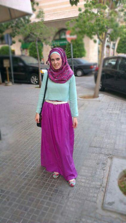 Purple Maxi skirt #hijab