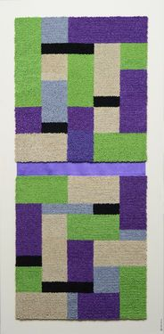 """Saatchi Art Artist Graziella Coi; Painting, """"Green, violet and light colour _CURRENTLY EXPOSED """" #art"""