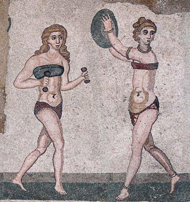 """Piazza Armerina, Villa Romana del Casale, mosaici - Ragazze in """"Bikini"""""""