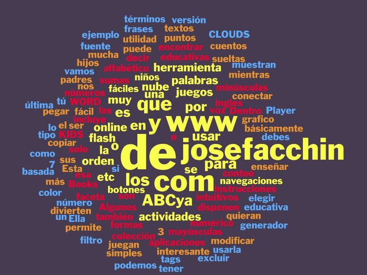 Para crear nube de tags clouds for kids word clouds and cloud