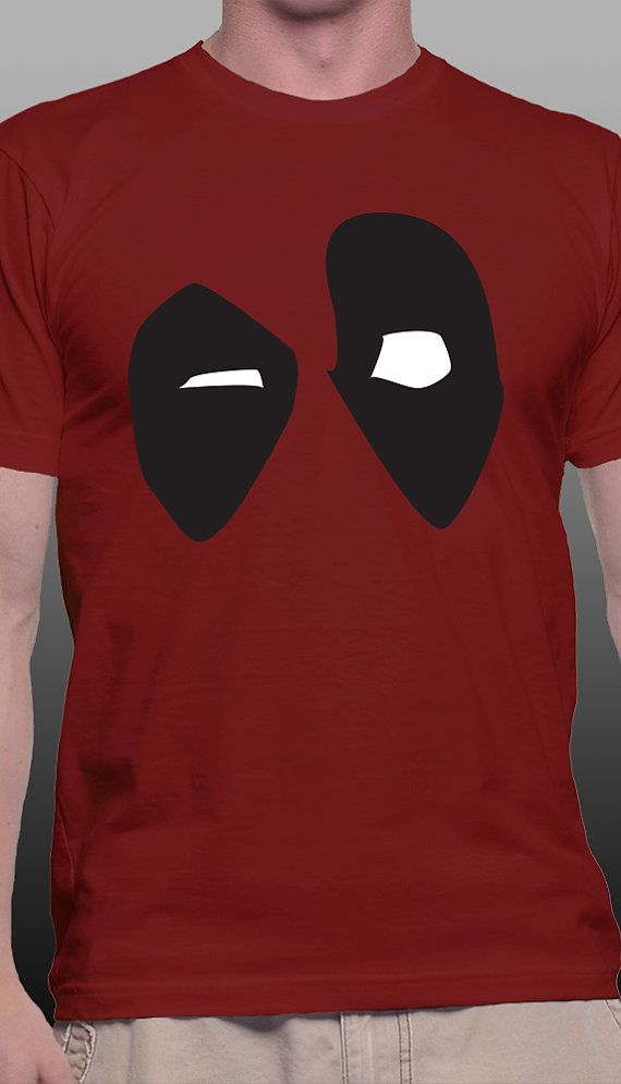 "Awesome Unisex Deadpool T-Shirt!  The Infamous ""Merc with a Mouth"" finally makes his way onto a shirt in my shop! While he may not break the fourth wall while in your closet, I'm sure he'll be confused about how he got there."