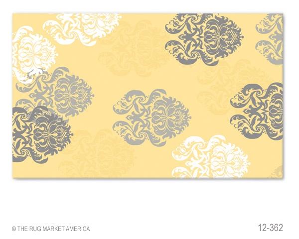 Yellow Gray Rug Decorating Kitchen Pinterest