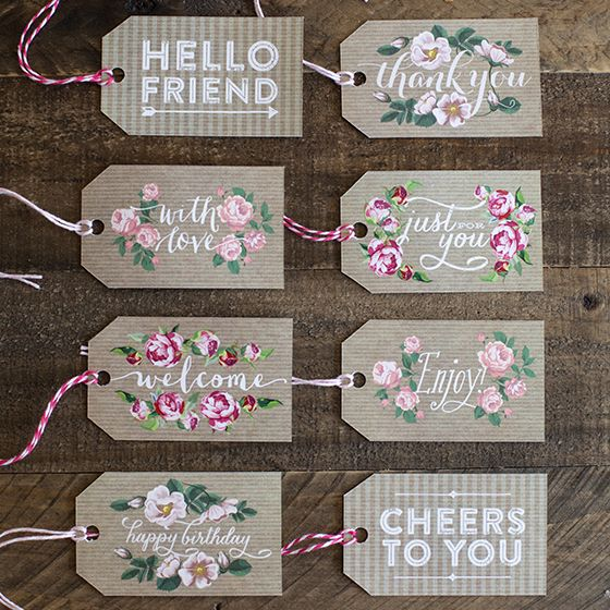 These gift tags are ready to download, personalize and print for your perfect Valentine's Day gift topper.