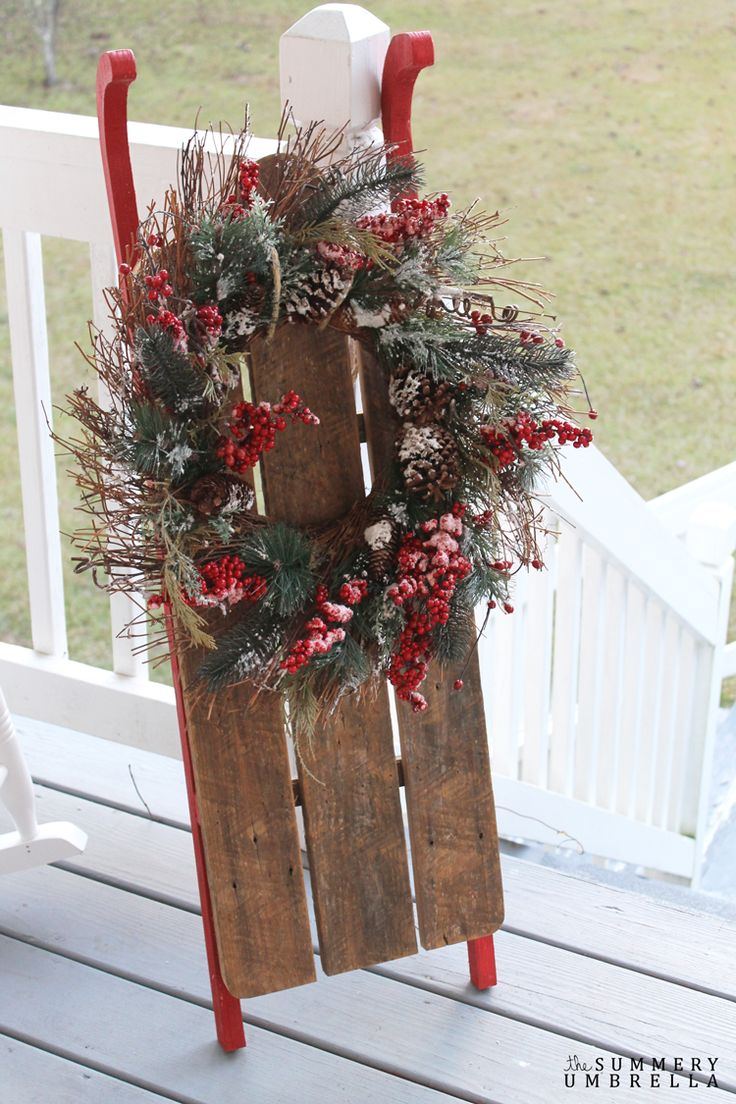 rustic holiday sled