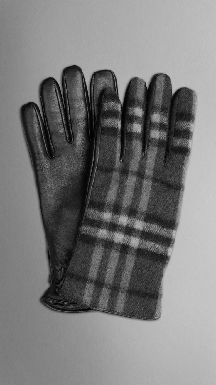 Mens driving gloves nordstroms - Check Wool Gloves Burberry
