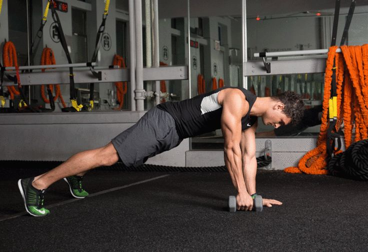14. Renegade Row #abs #workout #exercises http://greatist.com/move/abs-workout-unexpected-moves-that-work-better-than-crunches