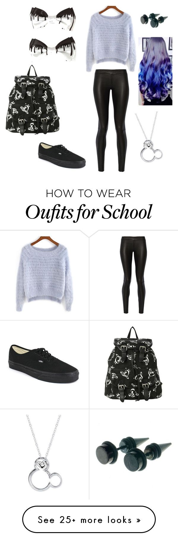 """Middle school"" by emmylulu20 on Polyvore featuring The Row, Vans, Disney, women's clothing, women's fashion, women, female, woman, misses and juniors"