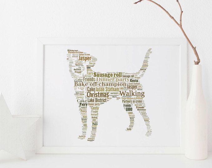 Border Terrier Dog. Custom Print FREE UK Postage - Pet Portrait - Border Terrier Gift - Dog Lover Gift