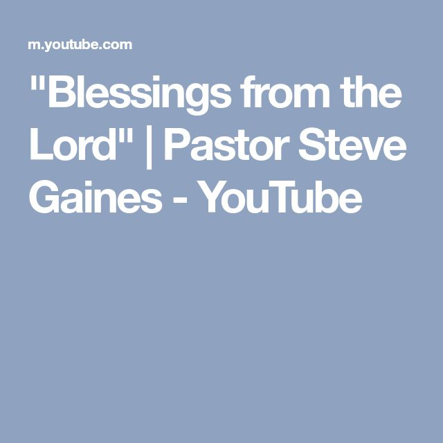 """Blessings from the Lord"" 